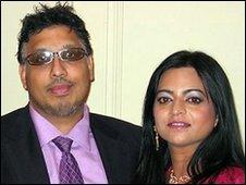Mahmood Ahmad and wife, Farah