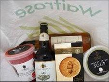 Waitrose bag of groceries