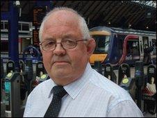 Wille Dickson, Train driver