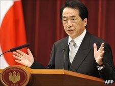 Japanese PM Naoto Kan in Tokyo (8 June 2010)