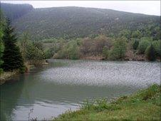 The reservoir before it was emptied