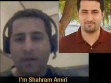 Screen grabs from Iranian TV video purporting to show Shahram Amiri