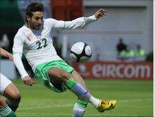 Algerian player in national home strip