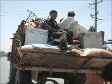 Afghan refugees fleeing violence