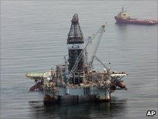 A deepwater drilling rig operating near the site of the Deepwater Horizon spill