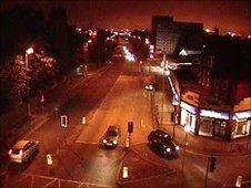 CCTV of Crosby Road North, moments before the shooting