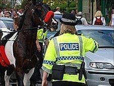 Police at Appleby Horse Fair