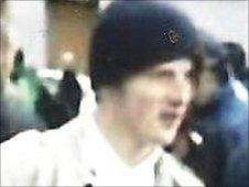 A man wanted for questioning over football violence