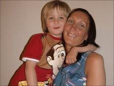 Lyndsey Tinney and her son Gary