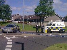 Police had to deal with a suspect device in Galliagh on Thursday