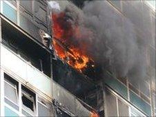 Lakanal House flames