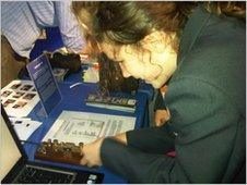 Pupils investigate code sending devices