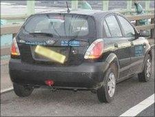 Hire car used by Gemma Garn
