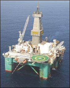 Eirik Raude semi sub offshore Ghana