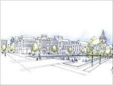 Planned civic square