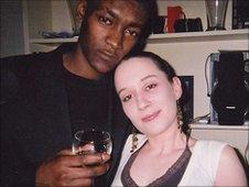 Murder victim Jaabe Roberts with gilfriend Karen Fyfe