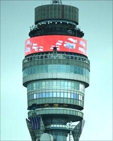 BT Tower screen