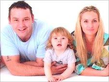 Tony Wright with his youngest son and partner, Julie