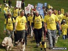 David Bellamy joins wind farm protests/Pic: Maverick
