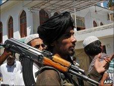 Taliban member in Pakistan's Buner region. File photo