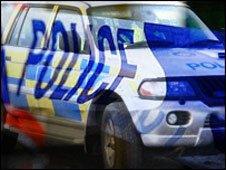 Police cordon tape
