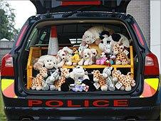 The police comfort toys