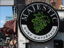 Majestic Wine warehouse