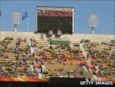 Empty seats at Algeria-Slovenia