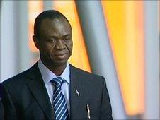 Dr Ikwueke arriving at the hearing