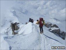 Climbers on Denali ascent. Pic: Bob Kerr