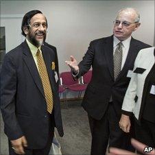 Rajendra Pachauri and Harold Shapiro