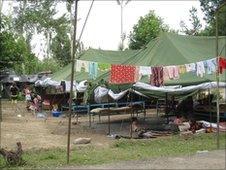 Refugee camp in Uzbekistan