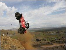 Jeep racing in Iceland