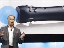 Peter Dill,e vice president of marketing for Sony at E3 press briefing