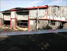 Thirty-three firefighters tackled the overnight blaze