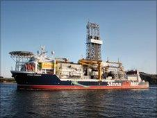 The Stena Carron drill ship used in 2010 Orphan Basin drilling operations