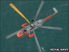 RNAS Culdrose search and rescue helicopter