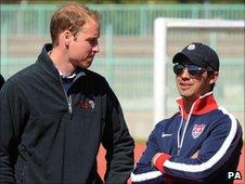 Prince William and US singer Joe Jonas`