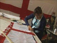 Worker at Flying Colours Flagmakers
