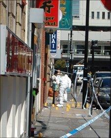 Scene of Chinatown stabbing