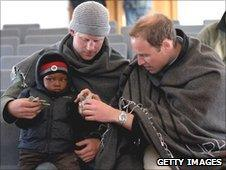 Prince William and Harry in Lesotho