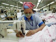 Garment worker in Vietnam