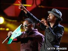 K'Naan (right) and will.i.am at World Cup concert