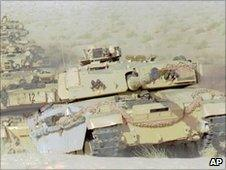 Challenger tank in Saudi Arabia