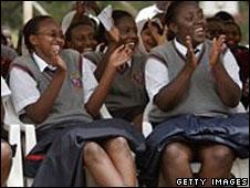 School students in Kenya