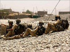 Generic image of British soldiers in Afghanistan