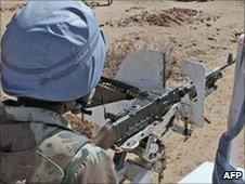 Peacekeepers in Darfur (file photo)