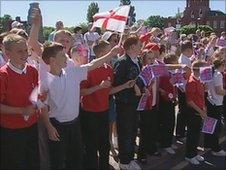 Yorkshire Regiment parade in Middlesbrough