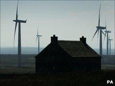 Wind turbines in far north
