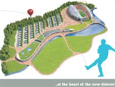 brochure page from garden district plan